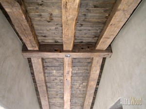 reclaimed hand hewn beams 16 300x225 Reclaimed Wood