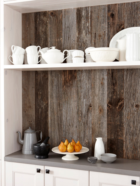 AltruWood FocalPoints White Kitchen Reclaimed Focal Points: Choosing a Reclaimed Wood Statement Piece
